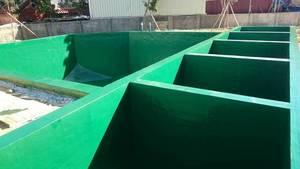廢水處理系統-耐酸鹼FRP防蝕塗佈工程 施工
