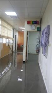 醫療大樓-自平式水泥、地板整平工程 施工