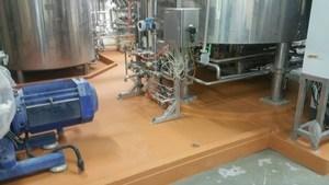 食品廠製程區耐高溫地板