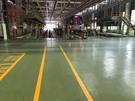 倉儲 EPOXY地板 劃線、警示標語標字工程施工